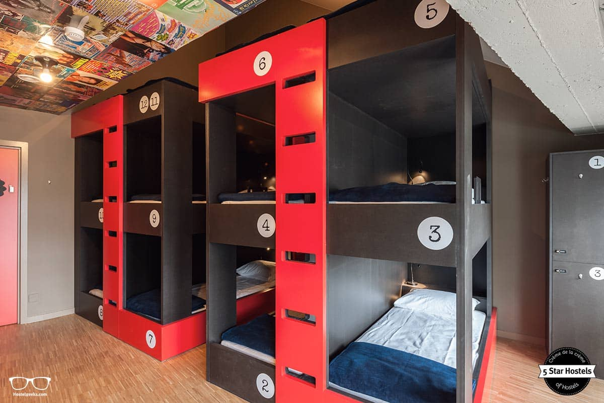 The dorms at Backstay Hostel are well-designed!