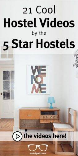 21 Cool Hostel Videos of the 5 Star Hostels on Pinterest