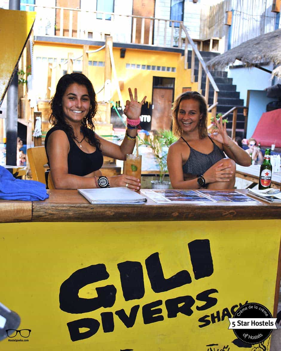 Fancy some diving? The Diving Center right at Gili Castle Hostel