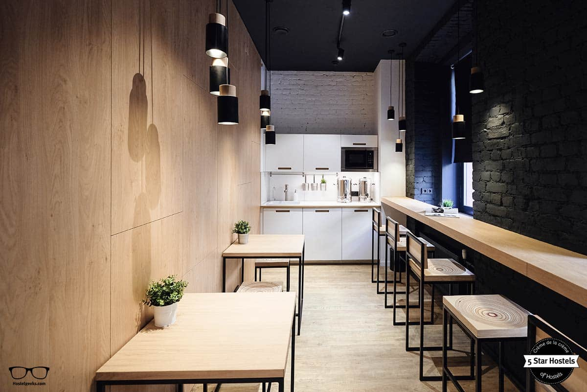 Kitchen at inBox Capsule Hotel