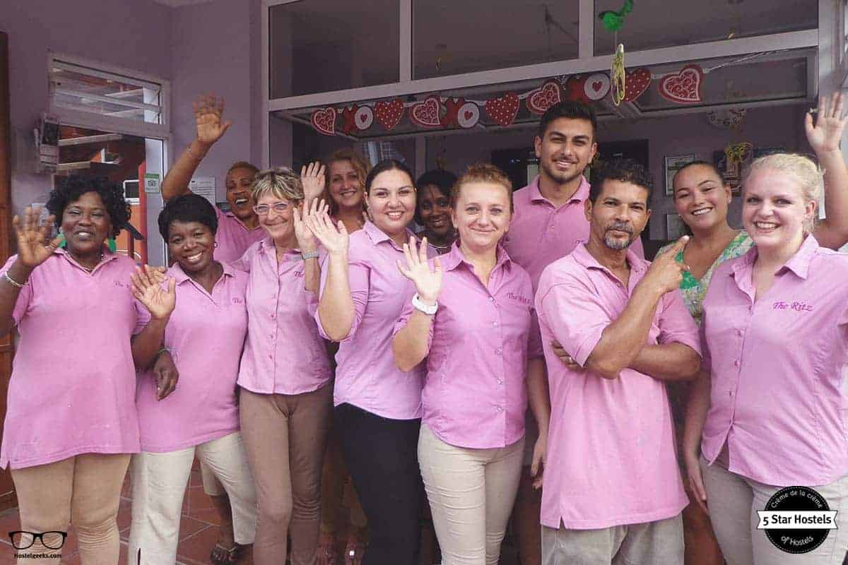 Smily and helpful staff at The Ritz Village Hostel