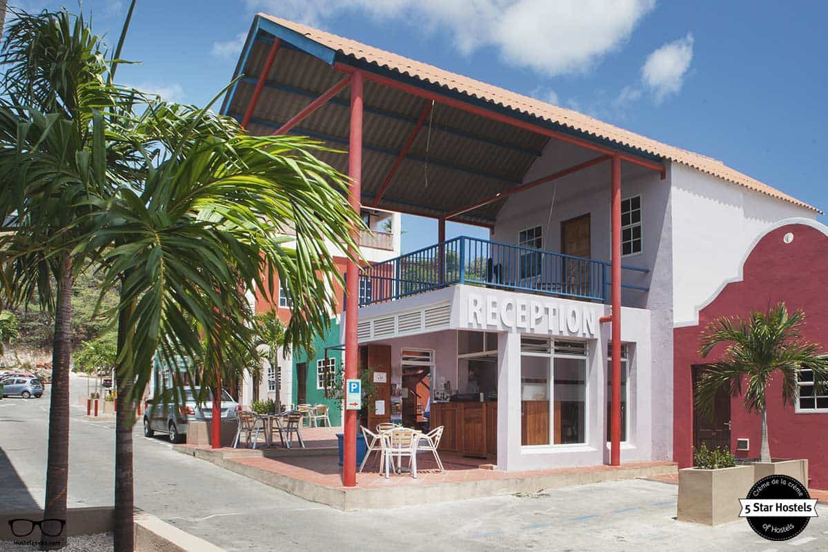 Reception at the Ritz Village Hostel Curacao
