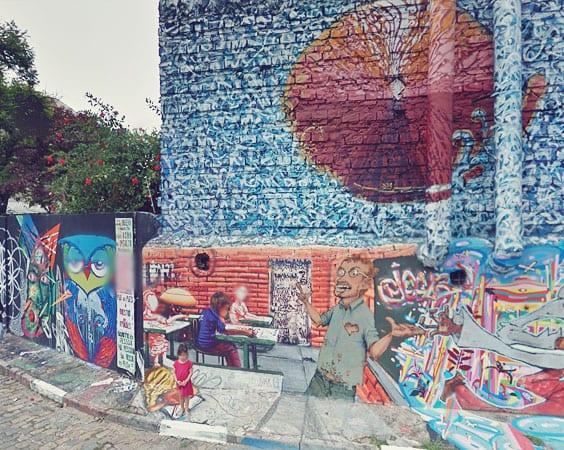 """Art-Geek Tip: The Street Art of Sampa Beco do Batman (called """"Batman Alley"""")"""