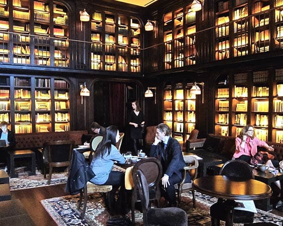 Café: The Library at the NoMad Hotel (open for public until 4pm)