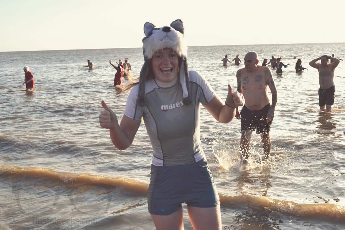 Freezing Christmas Sea Swim and I survived