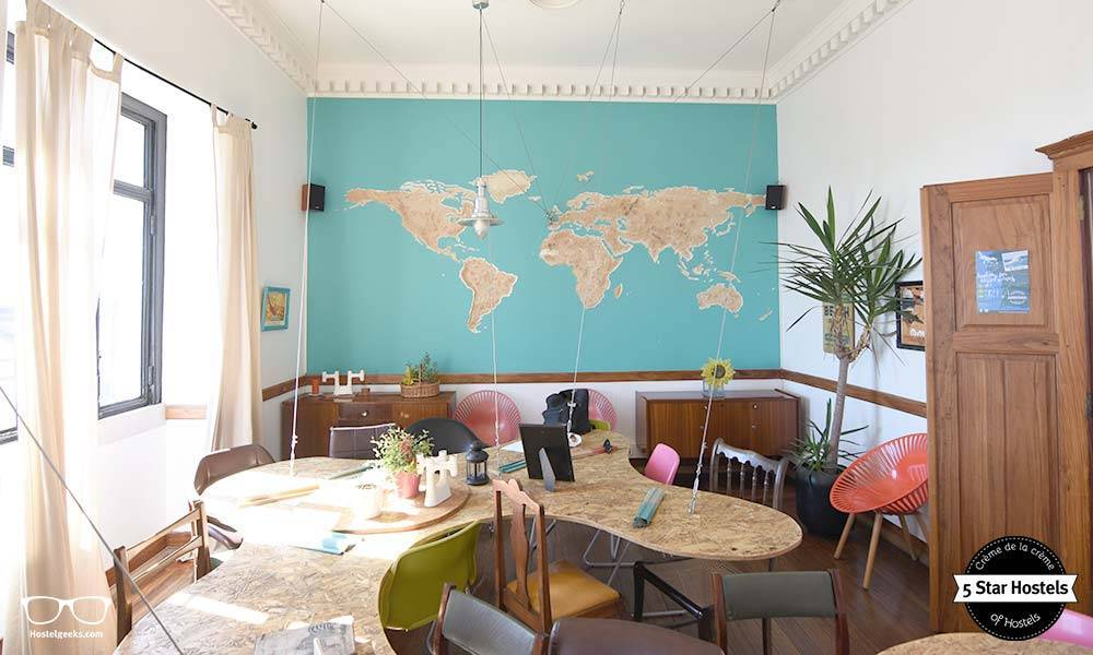 A true design spot, the sunset hostel in lisbon!