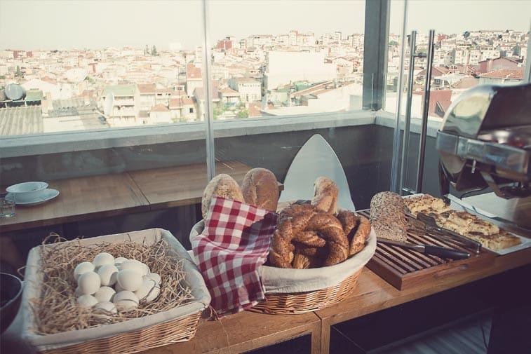 Breakfast at Hostel Taksim Istanbul