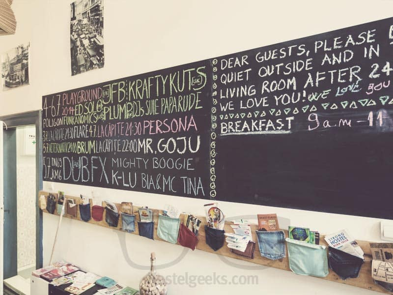 Hostel Costel Blackboard in Timisoara