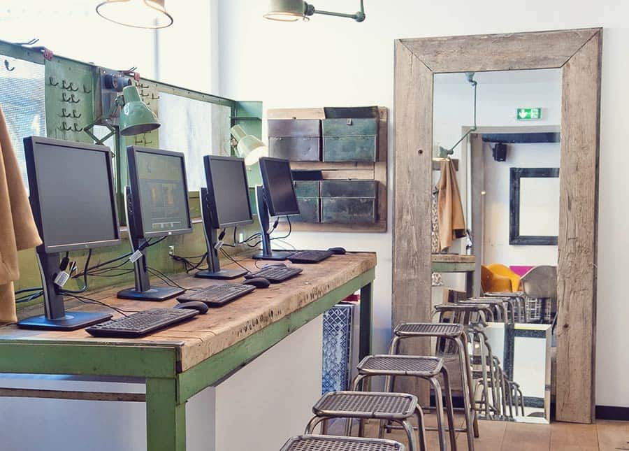 Industrial Design! The Gastama Hostel Lille reused many different materials throughout the Hostel
