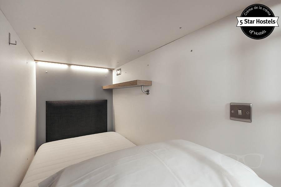 Inside a Bunk Bed Pod at CODE Hostel