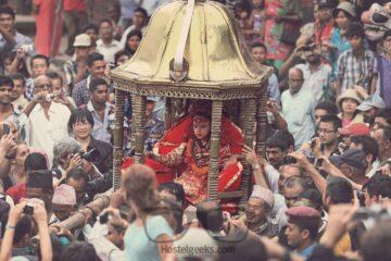 Waiting for Kumari, a goddess in Kathmandu