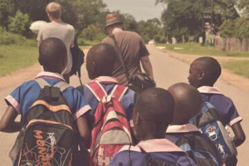 We smiled and laughed with Children in Zimbabwe