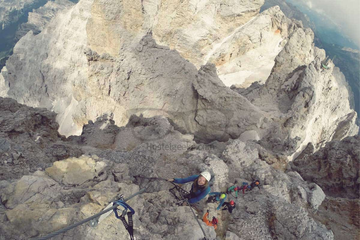 Danger and Fear Climbing the Italian Dolomites Mountain