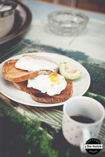 Breakfast time at Ani&Haakien Hostel - we LOVE avocado!