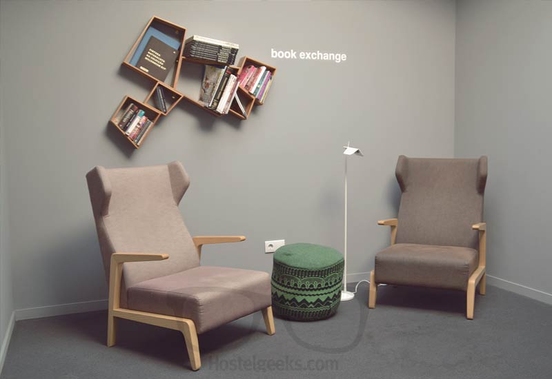 Hostel Book Exchange in Style at Tattva Design Hostel