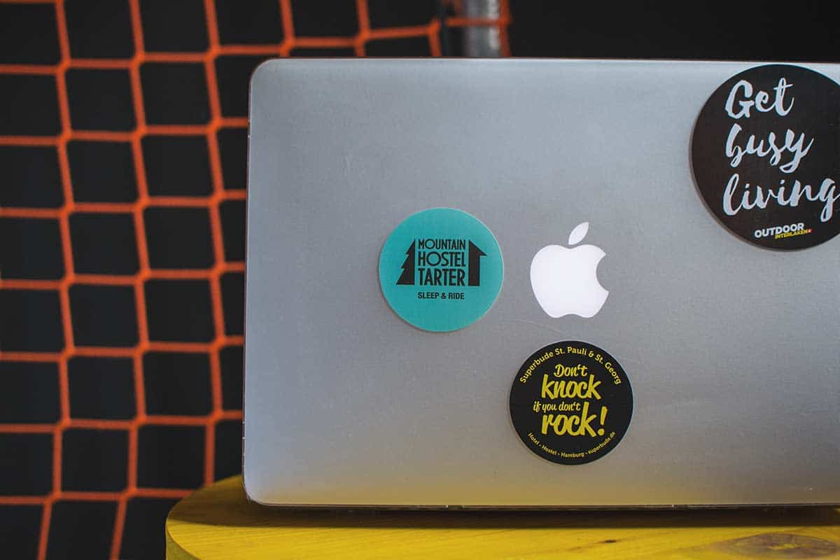 It started with a simple sticker, now so many amazing hostels cover our laptops