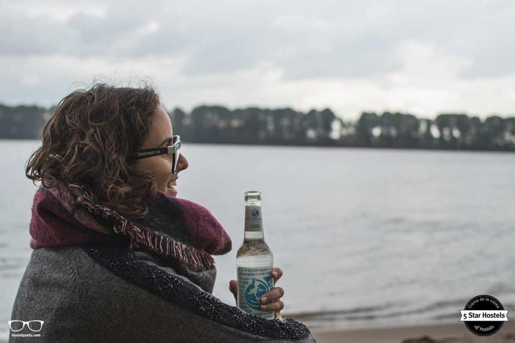 Enjoying the Hamburg beach
