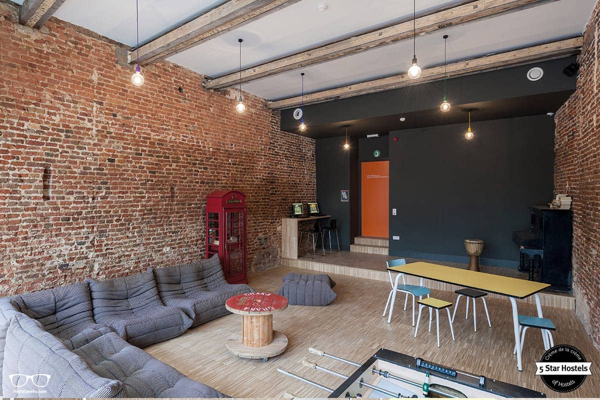 The chill out lounge at Backstay Hostel Ghent
