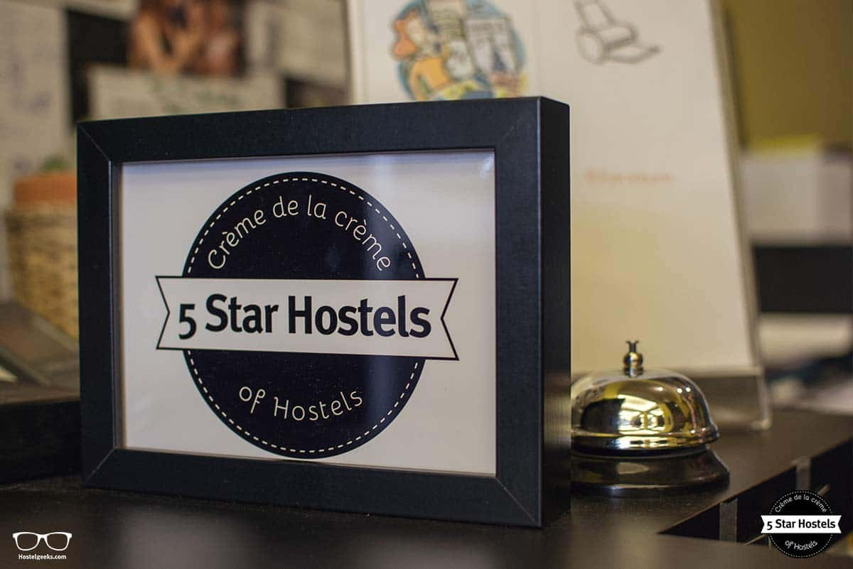 5 Star Hostel Award at Backstay Hostel Ghent
