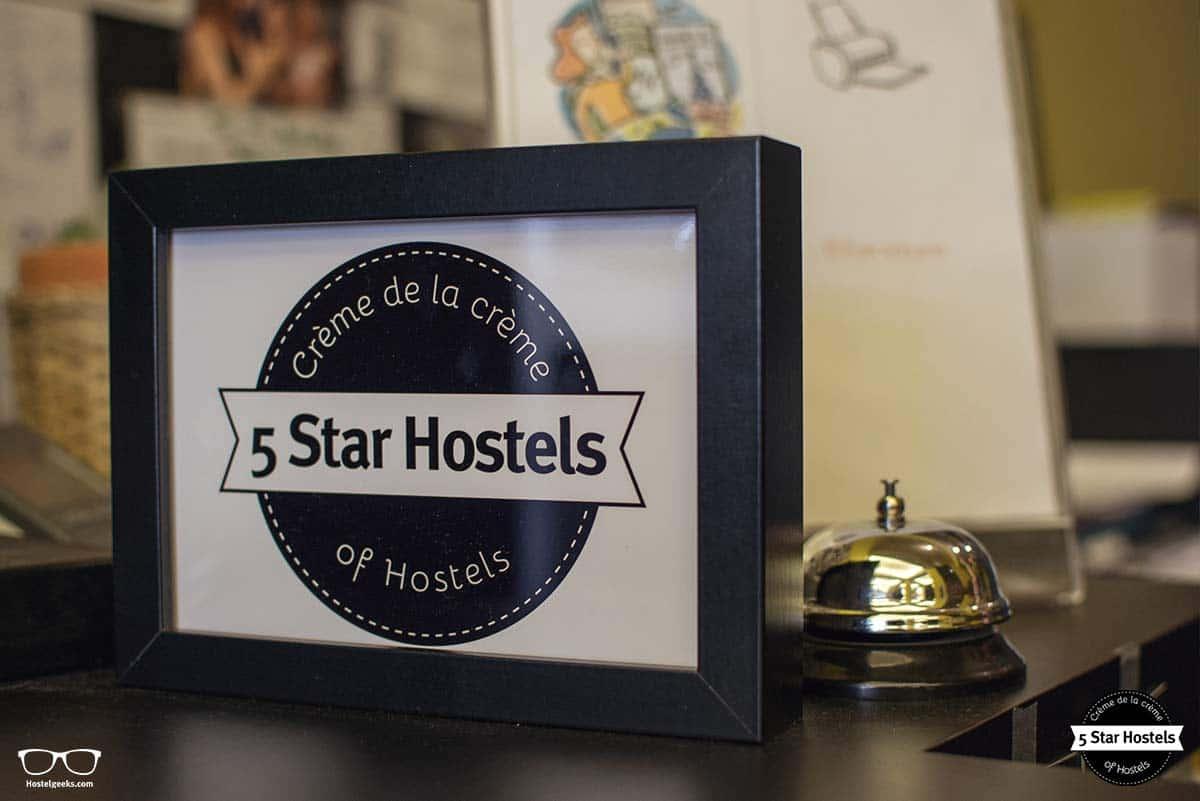 5 Star Hostel Award at Backstay Hostel Ghent