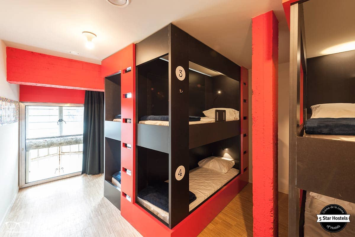 Space and comfy mattress in the dorms at Backstay Hostel in Ghent