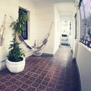 Life is better with a hammock! The balcony at WE Hostel Design Sao Paulo