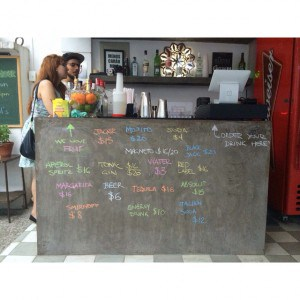 What do you drink today? The bar at We Hostel Design
