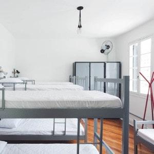 Der Schlafsaal im We Hostel Design