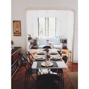 Esszimmer und Lounge im We Hostel Design
