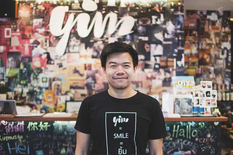Tem, owner at Yim Hostel in Bangkok