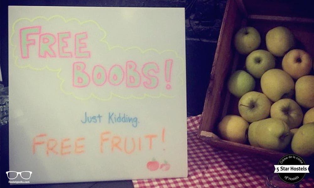 Free Boobs? Just kidding...free fruit!