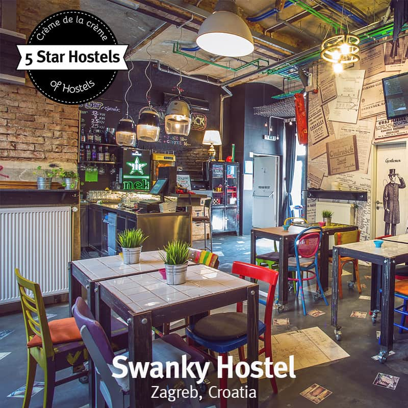 The famous bar at Swanky Mint Hostel - do you see all the upcycled elements?