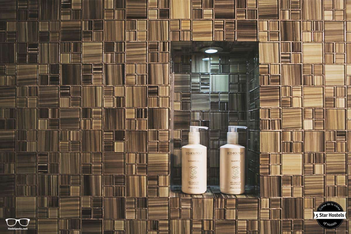 Eco Boutique shampoo - design details at Mosaic House in Prague