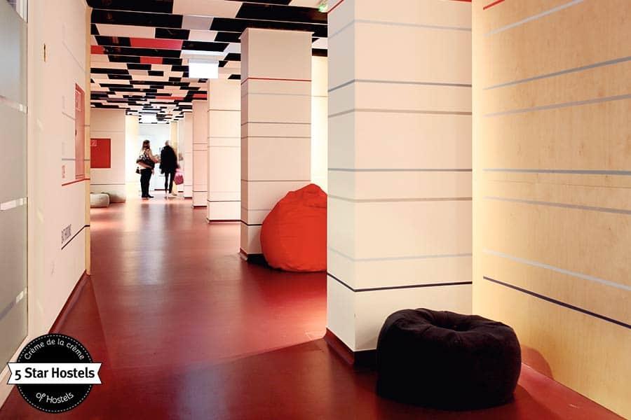 A stylish hallway in a stylish Hostel