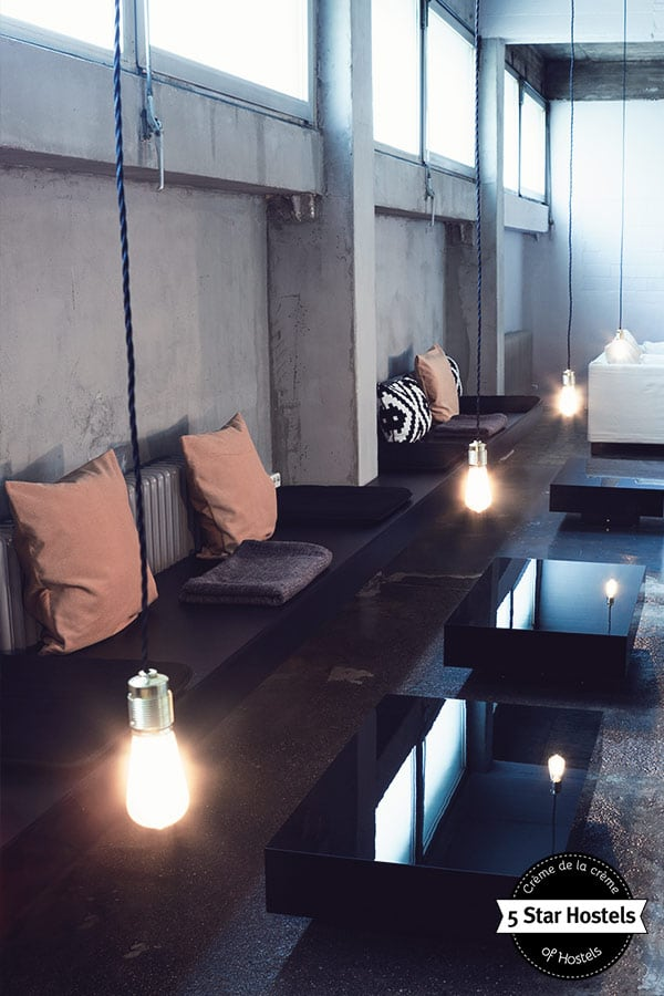 The lounge at Wallyard Concept Hostel Berlin
