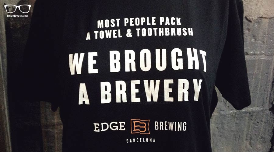 Edge Brewery Barcelona - is that the sense of Humor Hostelgeeks shares?