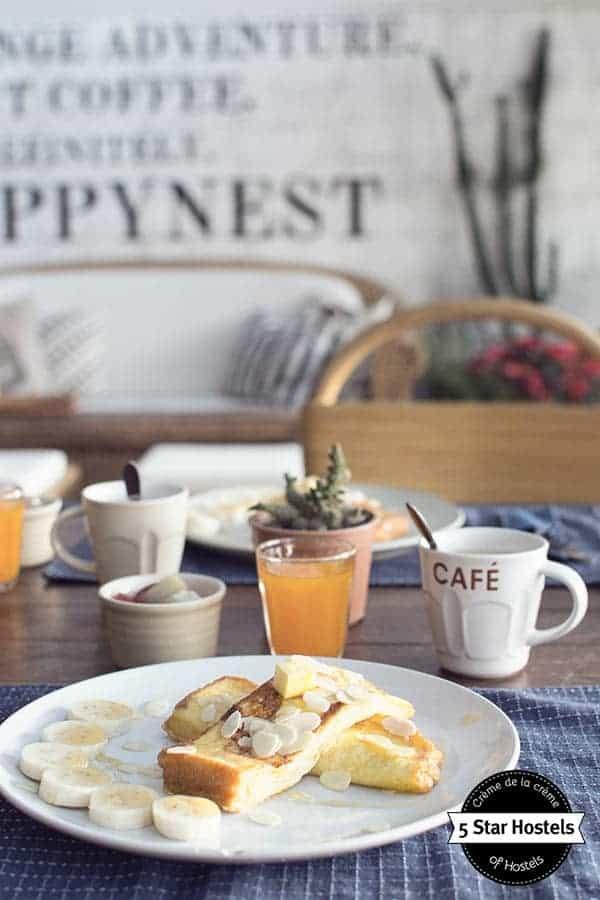 French toast Happynest Hostel