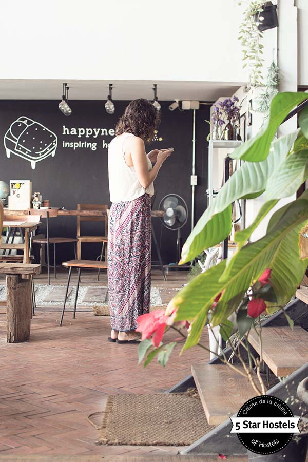 Updating instagram in Chiang Rai Happynest Hostel