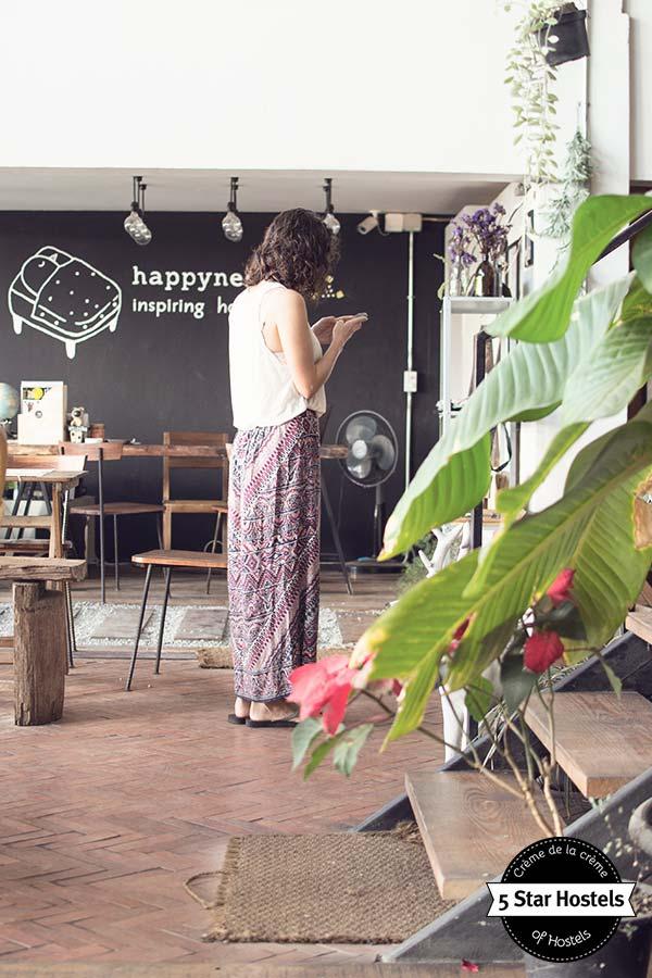 Updating instagram in Chiang Rai Happynest Hostel