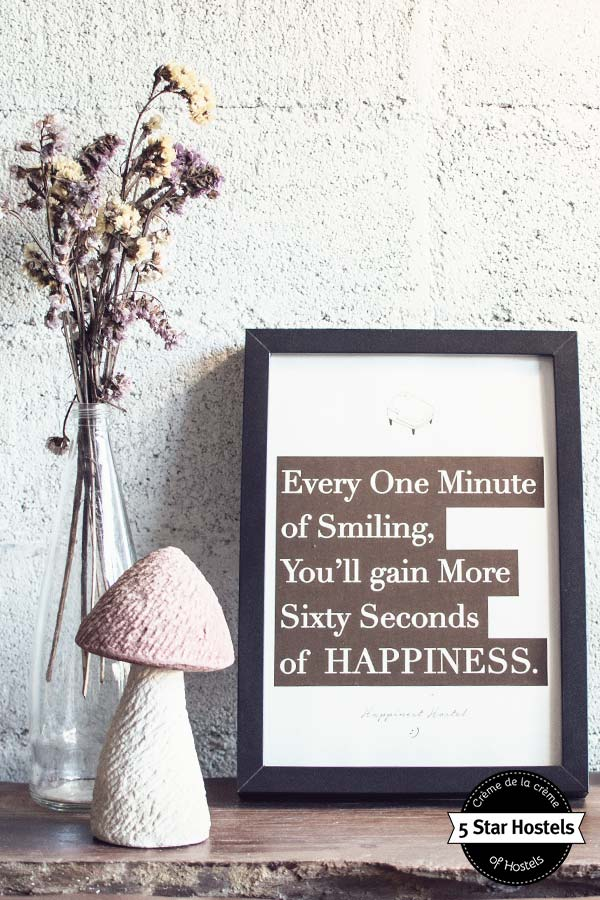 Quote smiling at Happynest Hostel Chiang Rai