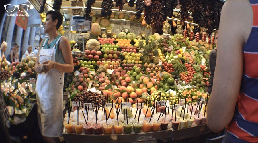 Drink a Smoothie at la Boqueria