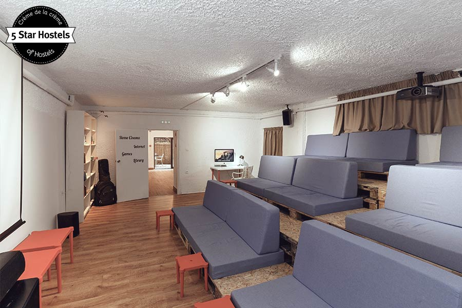 The inhouse cinema at STAY Hostel Rhodes