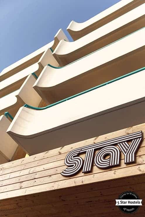 The hostel facade of Stay Rhodes