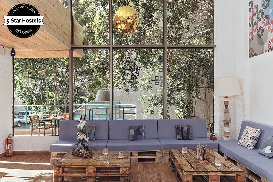 STAY in style: The lounge and upcycled furniture at STAY Hostel Rhodes