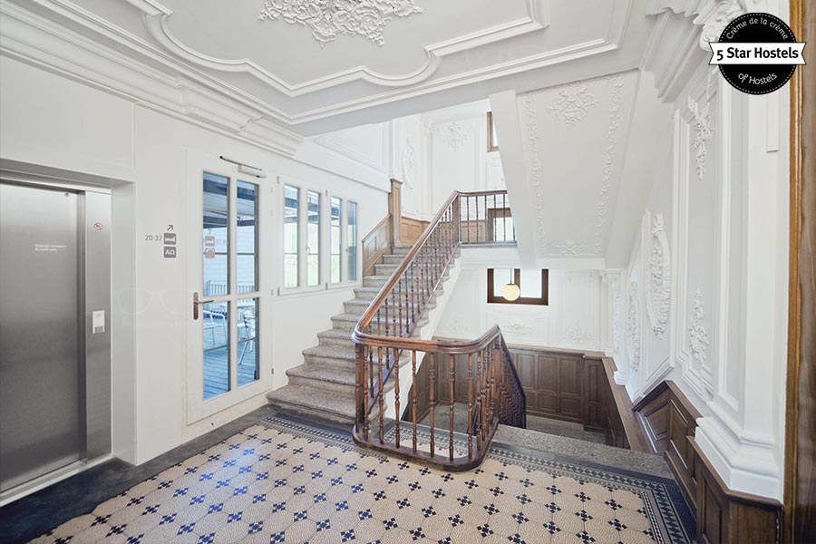 WOW-factor! The stair case at Backpackers Villa Sonnenhof