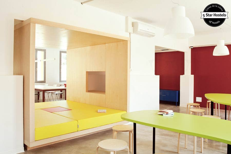 One of the common areas at WE_Bologna Hostel!