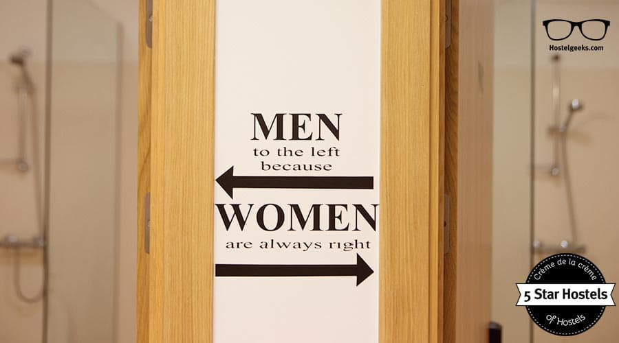 Men go to the left because Women are always right