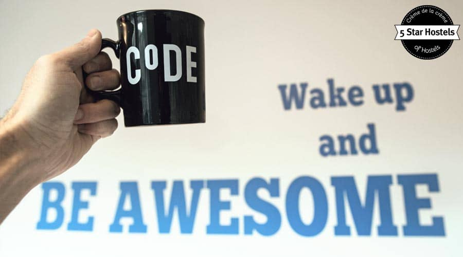 Wake up and be awesome!