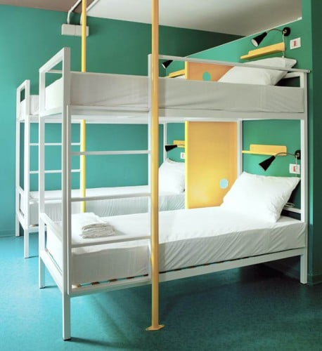 Another 4 Bed Dorm at WE_Bologna with only 4 beds and a fresh design