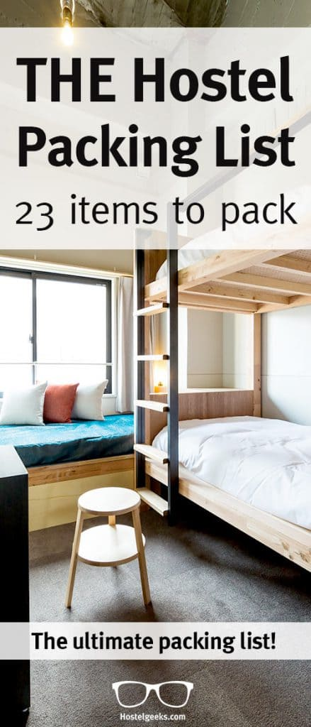 Hostel Packing List - 23 Smart Things to pack + free download!